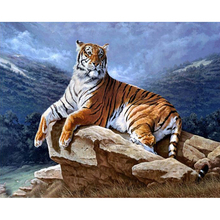 New Diamond Embroidery Tiger Painted skin tiger Full 5d diy Diamond Painting Cross Stitch Animal Paintings Home Decoration(China (Mainland))