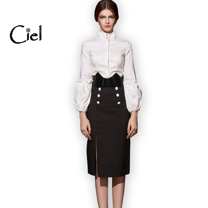 Excellent Women Suits With Skirt And Blouse Sets Plus Size Ladies Business Suits