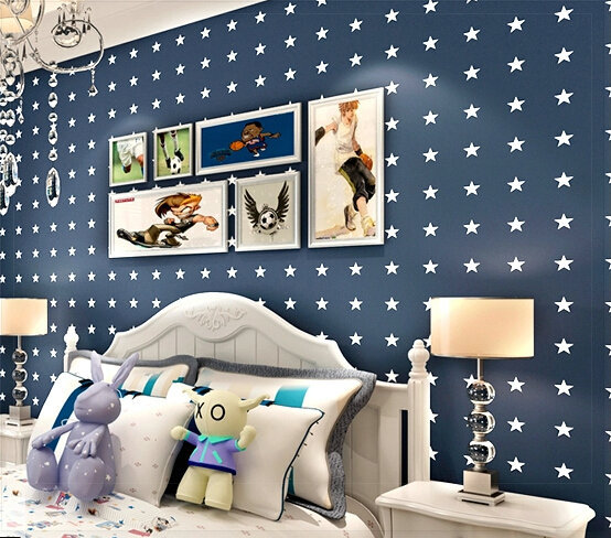 Boys And Girls Bedroom Wallpaper Cartoon Star Children's