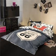 Fashion black and white bedding set queen size quilt duvet cover cotton bed sheet set cover bedspreads linen bedroom bedclothe(China (Mainland))