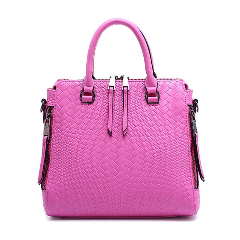 Фотография Hot sell fashion famous brand women bag 2016 new genuine leather height quality handbags solid zipper women messenger bags 50ZD