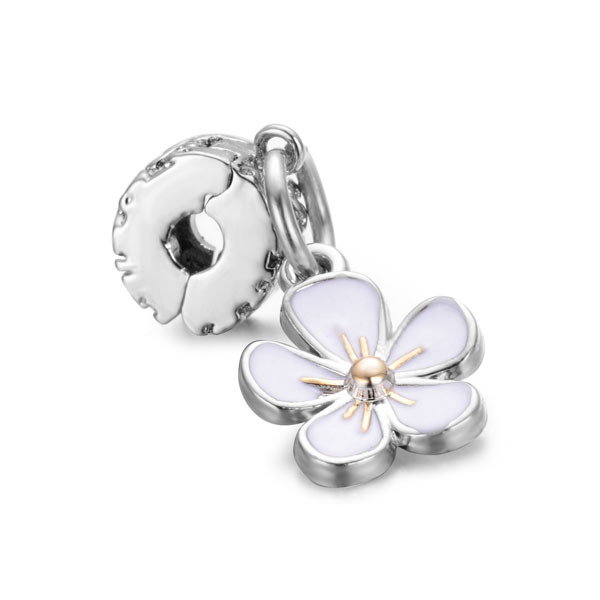 Pandora White Flower Charm