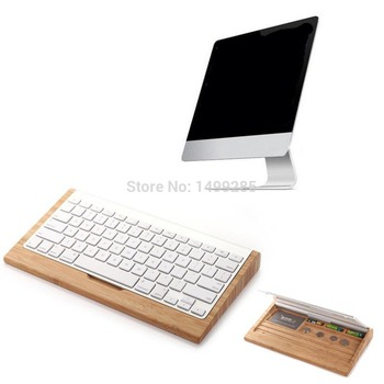 2016 New Arrival Wooden Stand Dock Keyboard Creative Holder Stents for imac Macbook Pro macbook Air Computer Wireless Keyboard