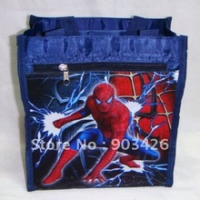 Free shipping! Hot Sale Spiderman Cartoon Lunch Bag Fashion Shopping Bag G1073 on Sale Wholesale & Drop Shipping(China (Mainland))