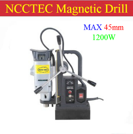 45mm Core drill Magnetic Drills NMD45C | 1.8'' steel iron magnetic drilling machine | 1200W(China (Mainland))