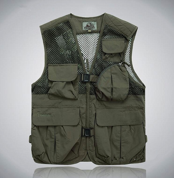 Fashion Men's Vests Outdoor Multifunctional Fishing Vest Fishing Pack  Men's Photography Camping Clothes Fly Fishing Vest Coats