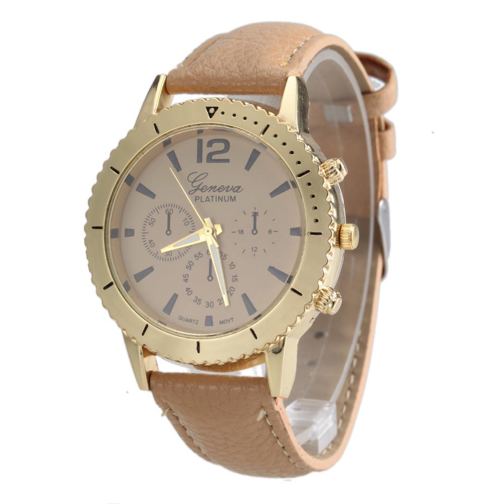 2016 Luxury Brand Woman Watch Geneva Platinum Fashion Women Golden Quartz Watches Casual Relogio Feminino Relojes De Mujer(China (Mainland))