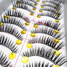 10 Pair Thick False Eyelashes Mink Eyelash Lash Extensions Voluminous Makeup Tail Winged False Lashes Maquiagem Fake Eyelashes(China (Mainland))