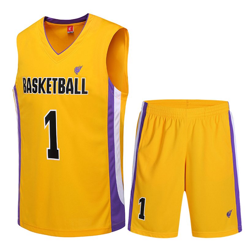 QG0371 New famous brand mens jerseys basketball breathable training suit uniform printable design for man Basketball Suit(China (Mainland))