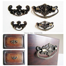 6pcs Antique Brass Bronze Jewelry Box Drawer Cabinet Cupboard Handle Pull Knob Flower Bat Shape(China (Mainland))