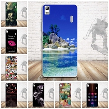 Soft TPU Painted Phone Cover Case For Lenovo A7000 K3 Note 5.5 Shell Skin Mobile Phone Case Cover for Lenovo K3 Note Silicon Bag