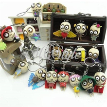2015 Sale Promotion Unisex Wood Hand Puppets Minion Halloween Terror Assorted Wooden Forest Ghost Strap Random Delivery K4569 (China (Mainland))