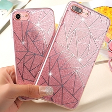 Buy Soft Silicone Bling Line Small Fashion Bling TPU Clear Glitter Mirror Case iPhone 5 5S SE 6 6S Plus 7 7Plus Cover Funda Capa for $1.35 in AliExpress store