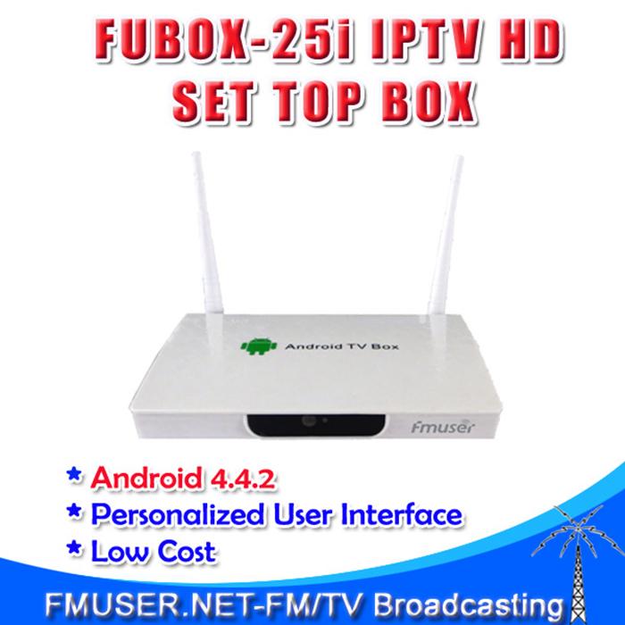 Free shipping FMUSER FUBOX-25i STB IPTV HD STB(DVB-C/DVB-S2/DVB-T/T2,HDMI/CVBS,2 x USB 2.0 Interface,Android 4.4.2)(China (Mainland))