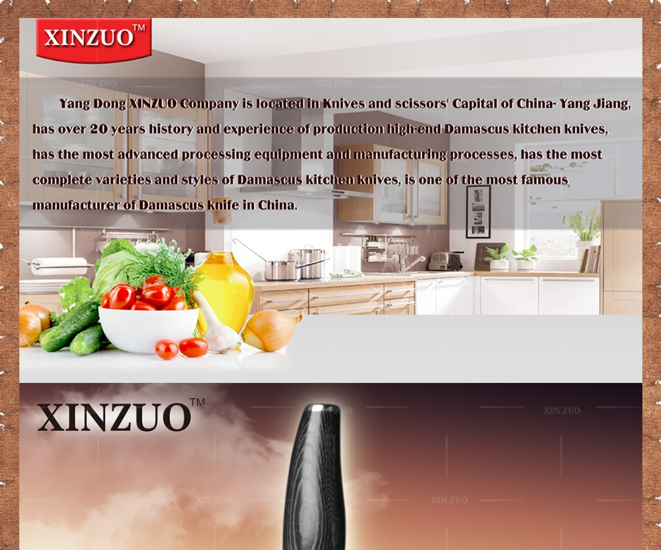 "Buy XINZUO 7"" inch chef knife Japanese 73 layers Damascus kitchen knife sharp japanese women chef knife wood handle free shipping cheap"