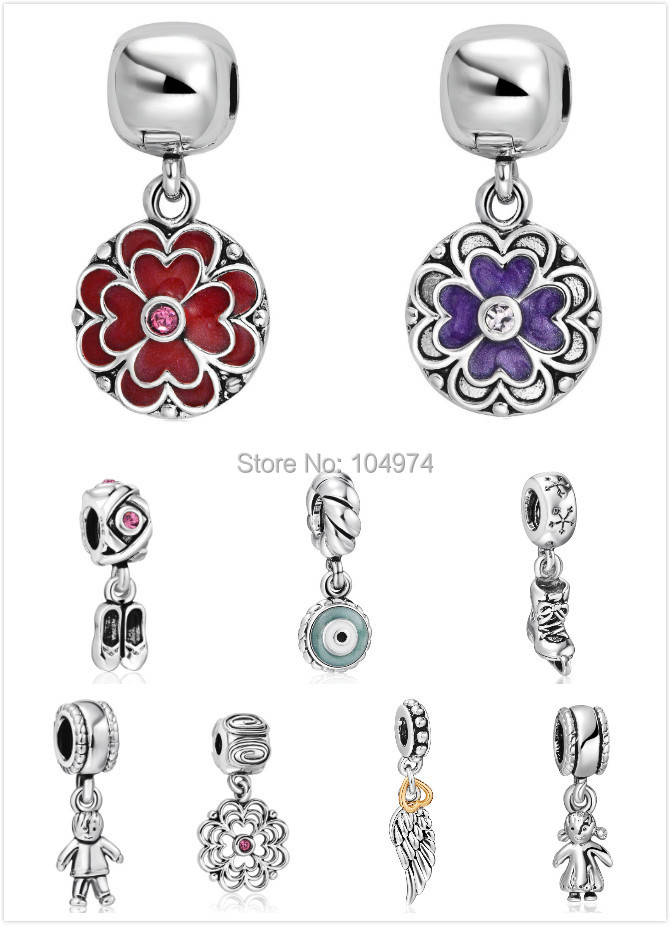 The First Season Arrive Fashion Pendant Charm 925 Sterling Silver European Charms Beads For diy Snake Chain Women Jewelry(China (Mainland))