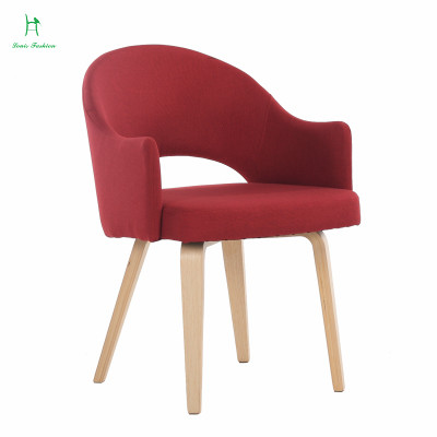 Solid wood chair backrest chair chair study coffee Nordic simple single fabric chair chair of IKEA computer chair(China (Mainland))