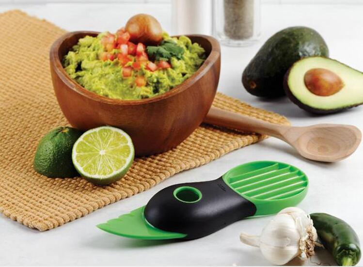 Creative Gadgets 3 in 1 Avocado Slicer Shea Butter Knife Flesh Separation Peeling Knife Kitchen Accessories Cooking Tools(China (Mainland))