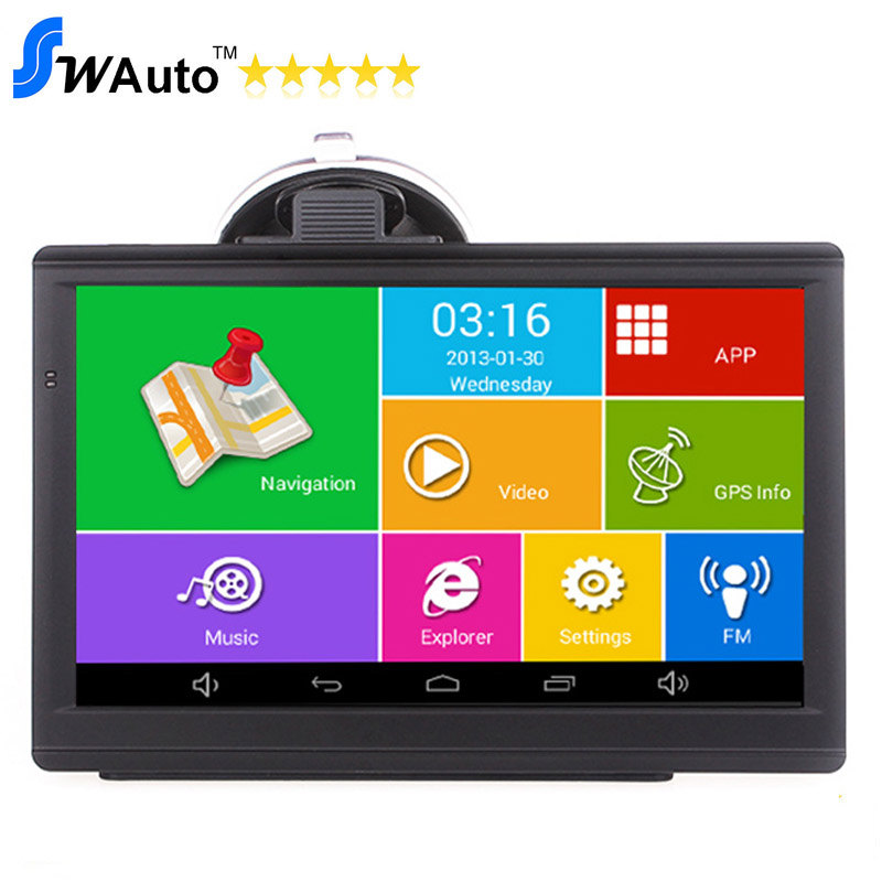 7 inch capacitive Android GPS android 4.4.2 MTK Quad Core android navigator 1.3GHz 512M 8G Bluetooth AV IN,free maps(China (Mainland))