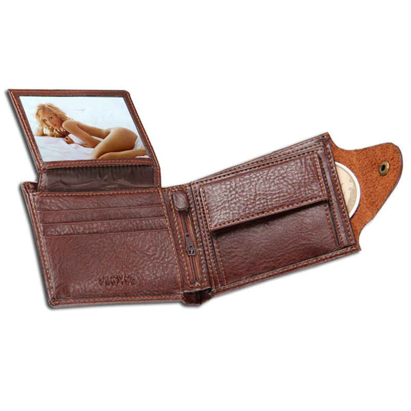Men Wallets leather Quality Guarantee Leather purse with coin pocket black brwon wallet zipper bag multifunction wholesale price(China (Mainland))