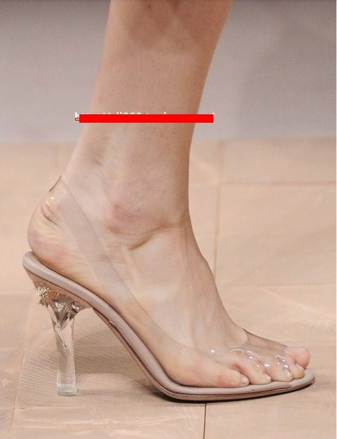 2014 new clear high heels wedding shoes