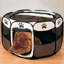 Portable Folding Pet Tent Playpen Dog Fence Puppy Kennel Folding Exercise Play Foldable Pet Dog House Outdoor Tent Bag(China (Mainland))