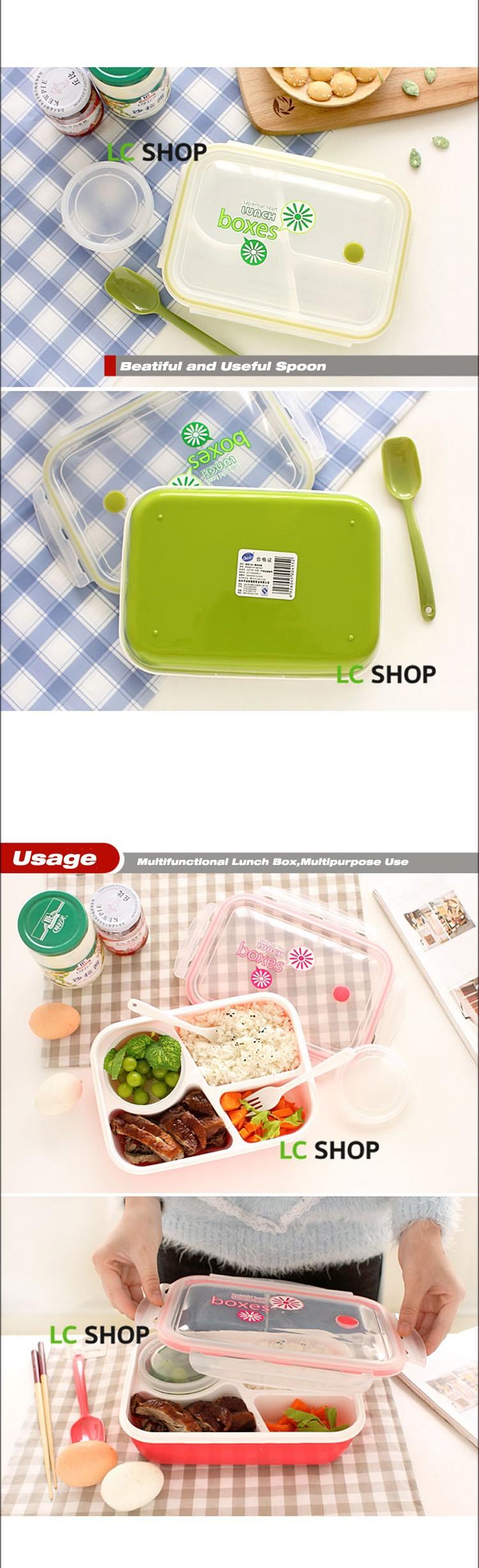 4 Compartment Microwaveable Bento Box