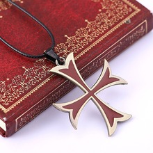 Buy Assassins Creed Templar Necklace assassins creed figure Cosplay fashion jewelry Assassins Creed Necklace Mens Womens Pendant for $1.49 in AliExpress store
