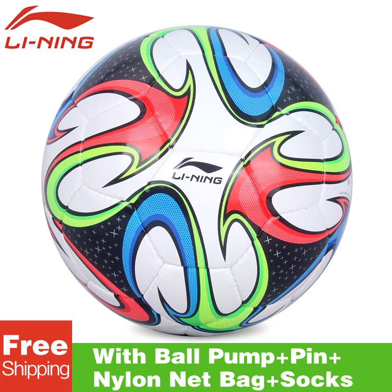 original lining AFQK058 Match Training soccer Balls Football Ball Official Size 5 High Quality PVC Soccer Ball Stitch soccer(China (Mainland))