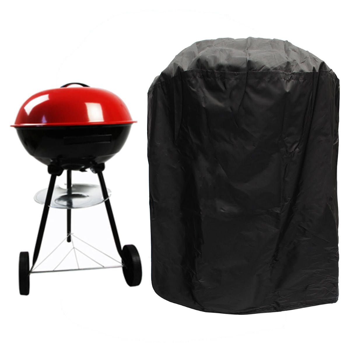 77cm Round Waterproof BBQ Stove Cover Gas Electric Barbecue Portable Grill Protector Black Color Dust Prevention(China (Mainland))