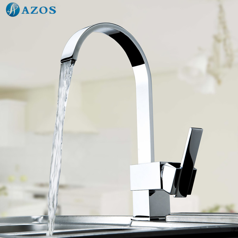 Kitchen Sink Faucets Free Rotatable Spout Single Handle Hose Chrome Polished Brass Deck Mounted Wash Mixers Furnitures CFLT005(China (Mainland))