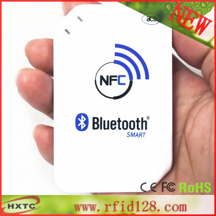 2016 Newest 13.56mhz ACR1255-J1 NFC Bluetooth Wireless Contactless RFID Reader Writer Support ISO14443 S50 Chip MF One, NFC Card(China (Mainland))