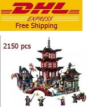 2016 Ninjagoed City of Stiix Building Blocks 2150pcs Temple of Airjitzu minifigures Kids Bricks Toys Compatible With Legoe 10427(China (Mainland))