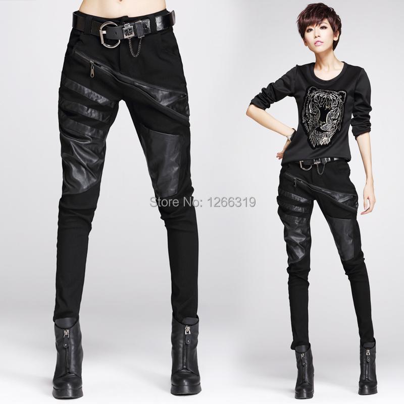 Model Womens Hipster Bootleg Lightweight Leather Trouser Bp192
