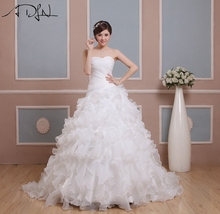 New Design Cheap Wedding Dresses vestidos de novia A-line Sweetheart With Crystal Beads Organza Bridalsweet 16 dresses(China (Mainland))