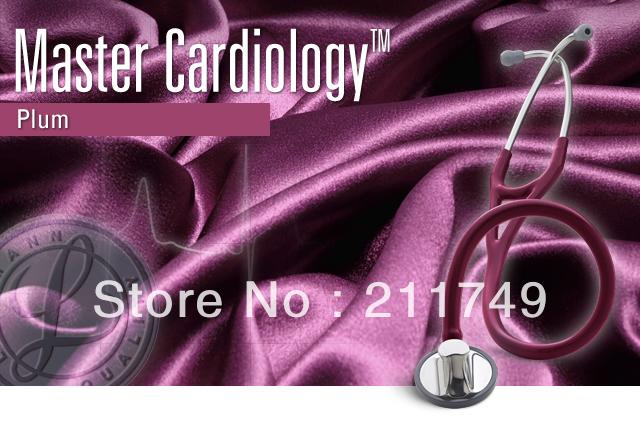 Free shipping 3M Littmann Master Cardiology Stethoscope professional,medical stethoscope,plum Tube, 27 inch,2167(China (Mainland))
