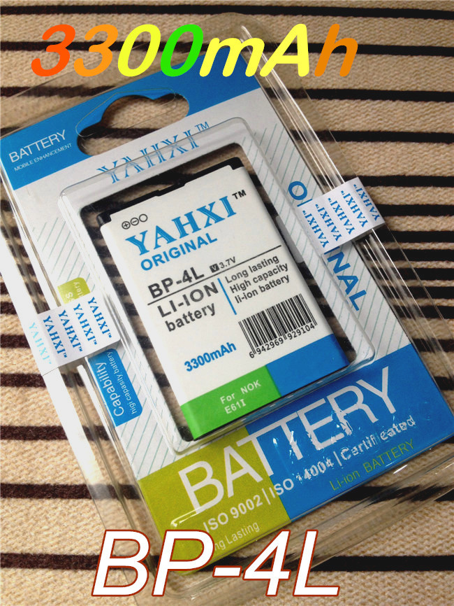 YAHXI High capacity 3300mAh BP-4L /BP 4L battery for Nokia N97/ N97i/ E71/E72/ E61/E63 / E90/E90i / 6650F / E95E71x E73/N810 etc