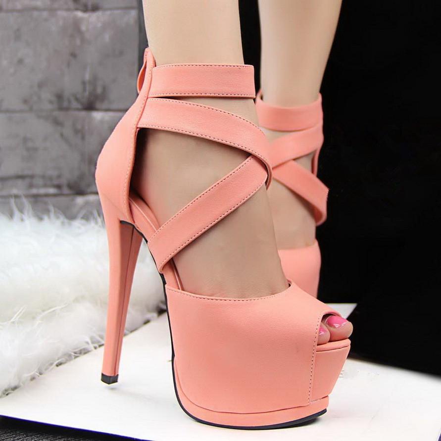 heel ladies sandals