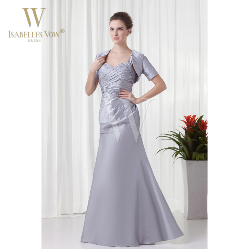 Summer style mother of the bride dress light grey a line for Mother of the bride dresses summer wedding
