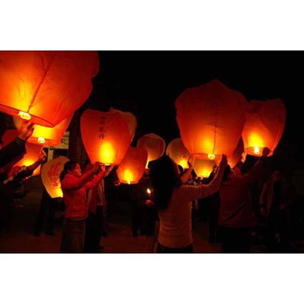 Heart Shaped Sky paper Lantern Chinese Kongming Lantern Wishing Lamps free shipping (Red)(China (Mainland))