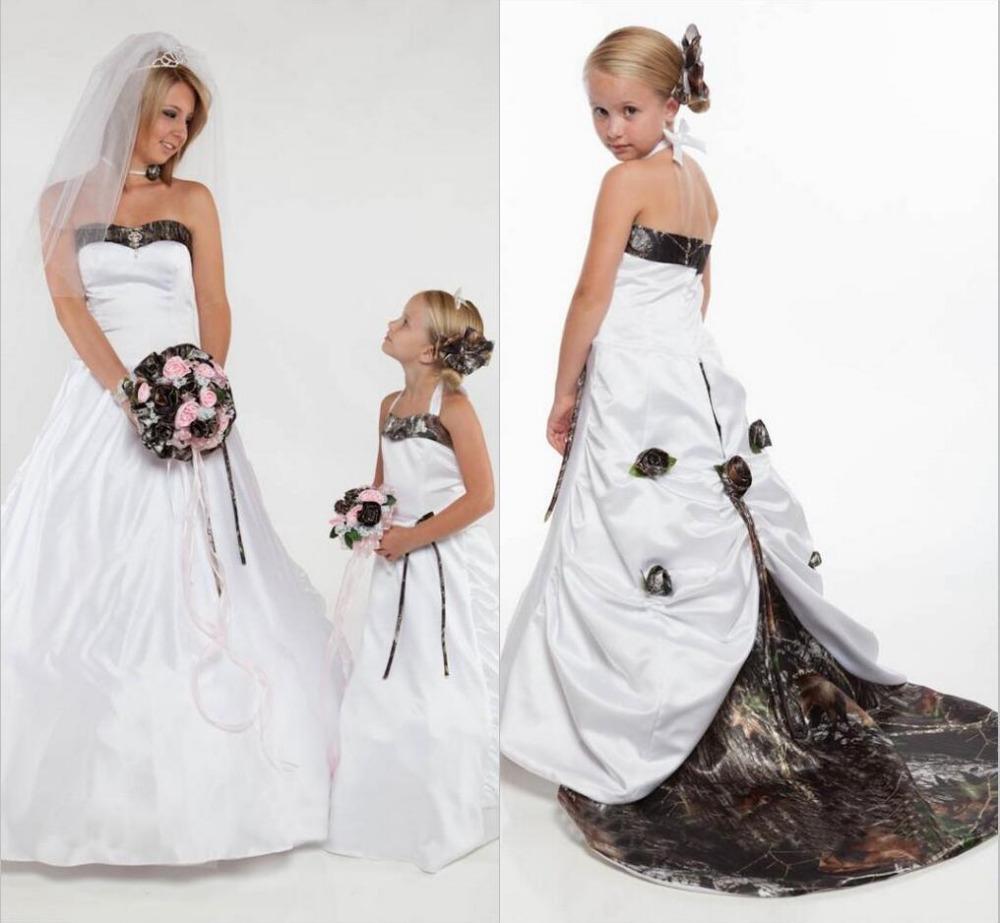 White camo flower girl dresses bridesmaid dresses sleeves white camo flower girl dresses 26 izmirmasajfo