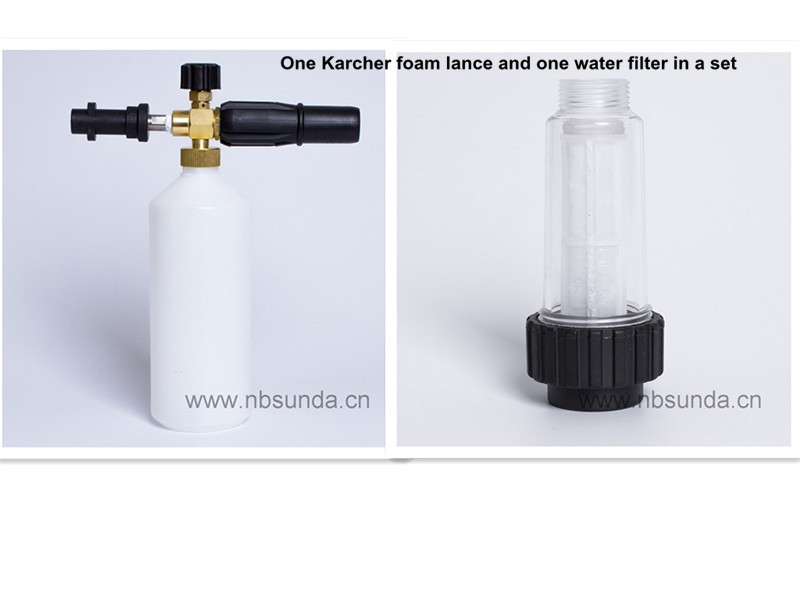 Snow Foam Lance for Karcher K Series pressure washer and Inlet Water Filter set(China (Mainland))
