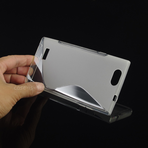 Free Shipping Soft Gel Skin S-Line Wave TPU Case Cover for ZTE Blade L2(China (Mainland))