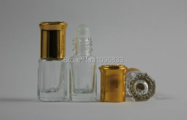 3ML Perfume bottles, 3ML Glass Roll on Bottles, Essential Oil Vial, Portable Packing Bottle, Square Glass Vial, 50pcs/Lot(China (Mainland))