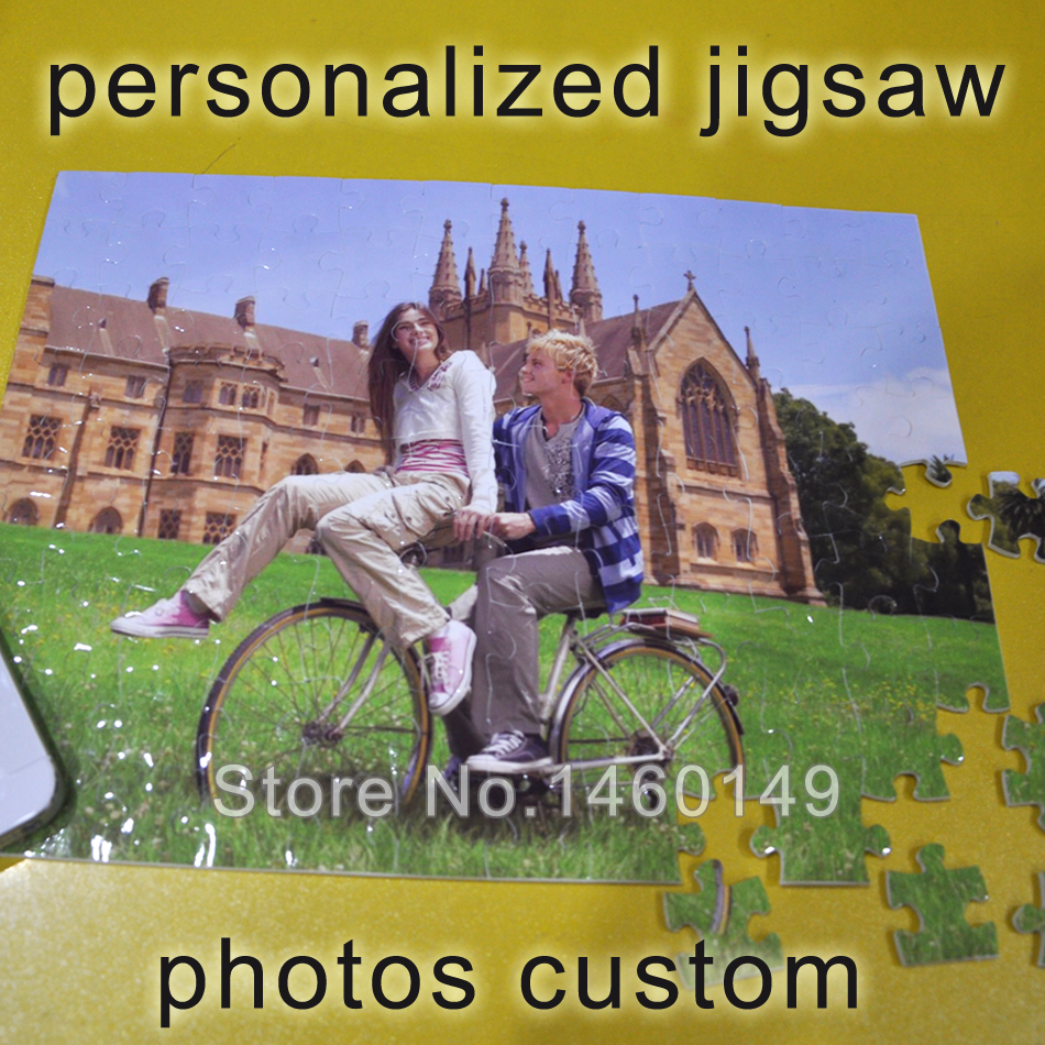 Photos Custom!! Surprise Gift Figure Statue Puzzle Personalized Jigsaw Kids DIY Puzzle By Own Pictures 20X26CM With 108pieces(China (Mainland))