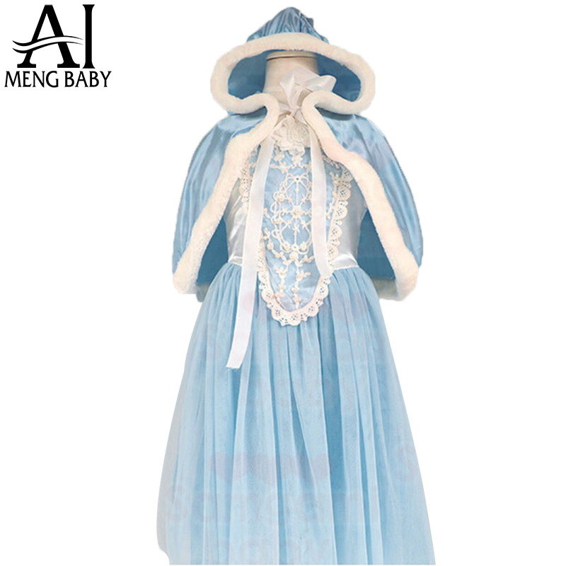 New Novelty Girls Halloween Anna Elsa Dress Kids tutu Dresses For Party For Princess Girl Clothing Winter Elsa Costume(China (Mainland))