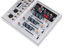 Vadiboer F4 4 Channel echo voic effect Mixer For Stage Home Karaoke DJ 48V Phantom power USB echo voic effect audio