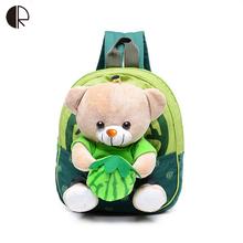 2016 New Cute Kids School Bags Cartoon Bear Dolls Applique Canvas Backpack Mini Baby Toddler Book Bag Kindergarten Rucksacks 656(China (Mainland))