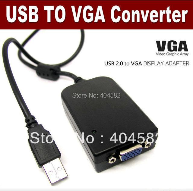 Freeshipping USB  To VGA Graphics Display(USB 2.0 Video Card Adapter To VGA Graphics Display(Extends your desktop work)