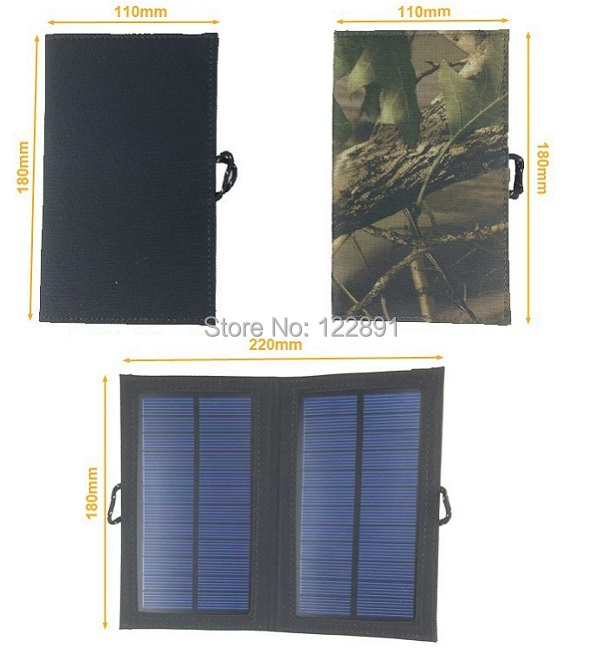 HOT Sale! 4 W Foldable Solar Charger USB Output Battey Charger For Cell Phone Solar Panel Charger Waterproof Free Shipping(China (Mainland))